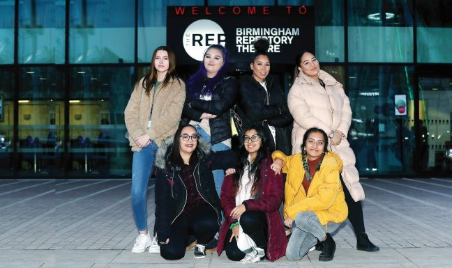 Performing Arts students at Birmingham REP