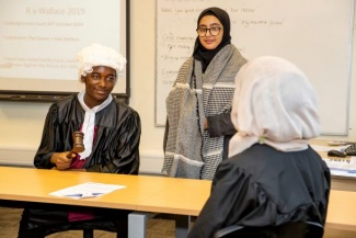 Law students at Cadbury Sixth Form College